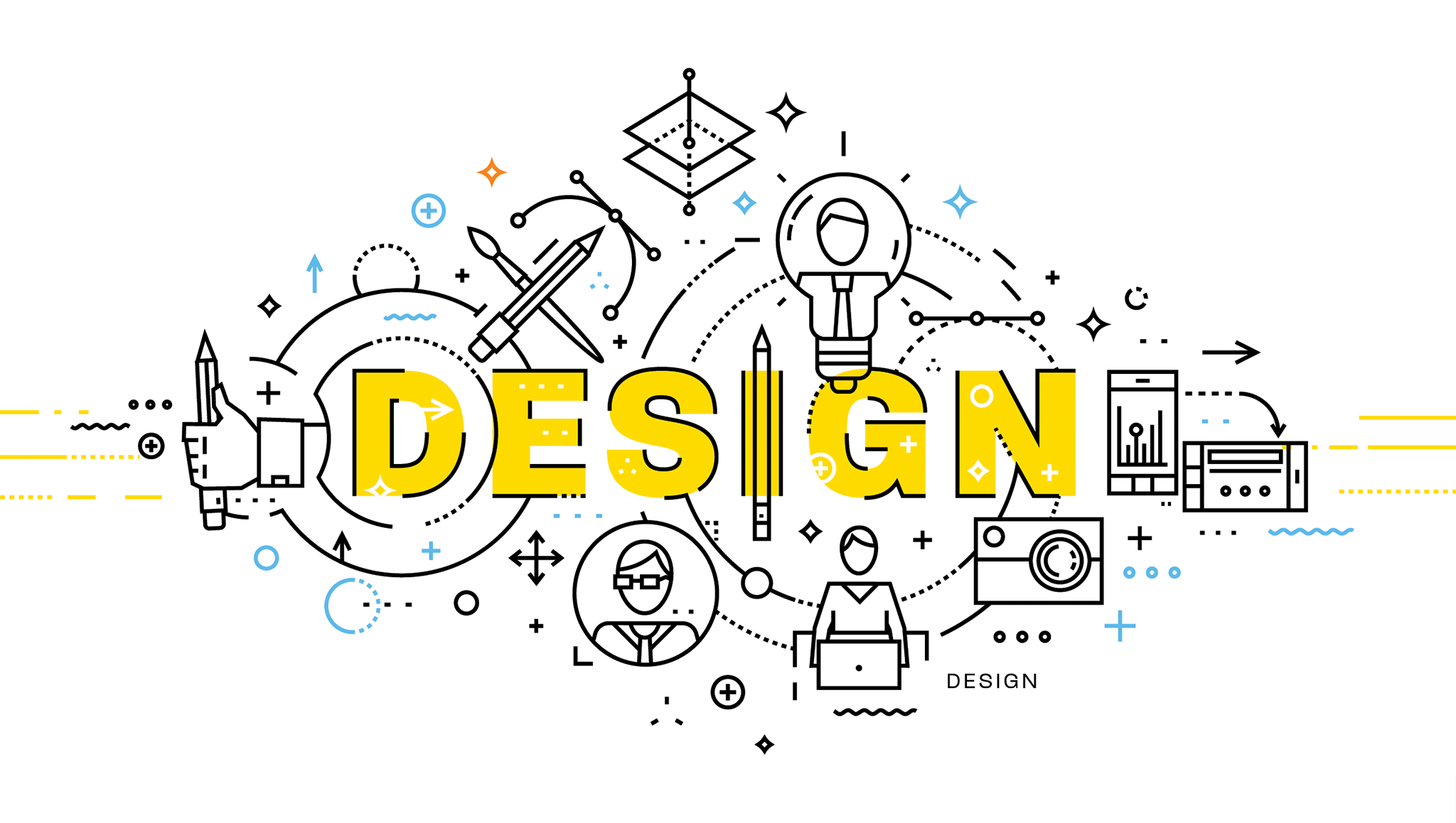 Web & Graphic Design Illustration