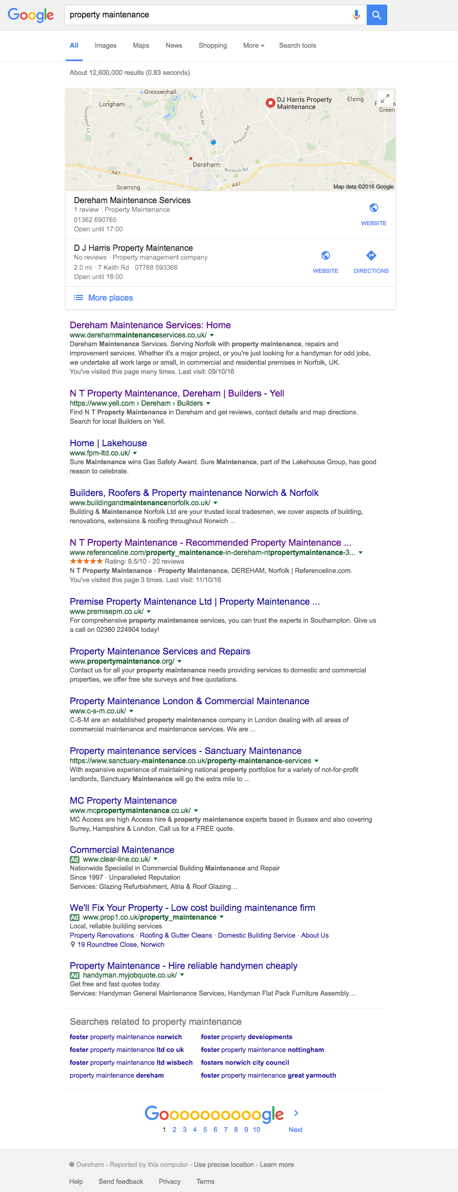 SEO Search Example image