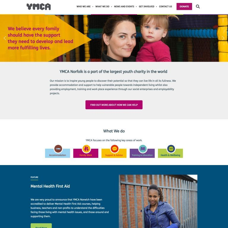 YMCA-Norfolk-front-page-screenshot